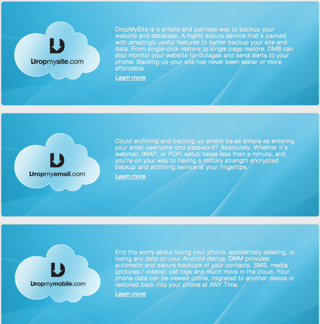 Our products on offer to help with the secure mass adoption of the cloud
