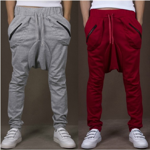 New-2014-Fashion-Men-Low-Drop-Crotch-Pants-Trousers-Casual-Loose-Baggy-Hip-Hop-Harem-Sweatpants